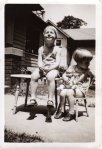 With my sister Carolyn in 1936.