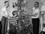 With my father and my brothers Jerry and Pete, home for Christmas from West Point in 1952.
